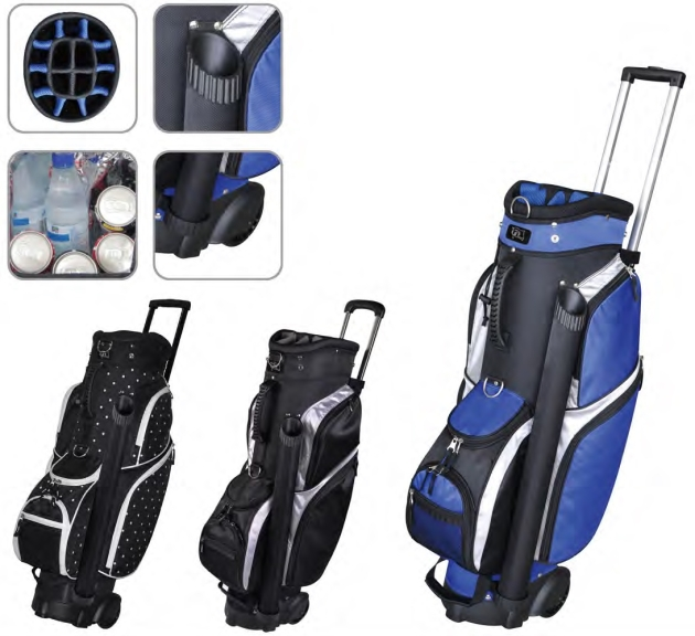 "RJ Sports Wheeled 9.5"" Transport Bag - Polk A Dot"