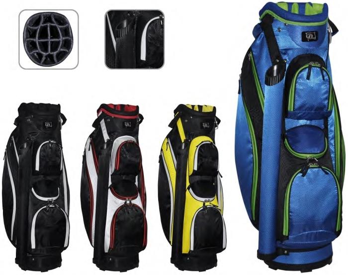 """RJ Sports Venice 9"""" Cart Bag - Black/White"""