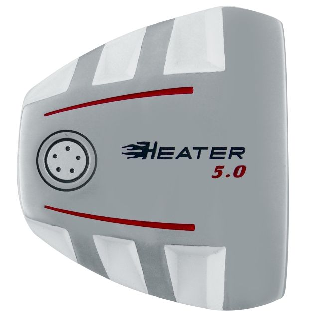 Heater 5.0 White Mallet Putter Head LH
