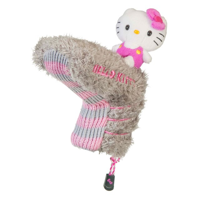"Hello Kitty Golf ""Mix & Match"" Putter Headcover Grey/Pink"