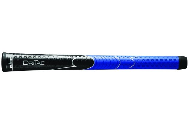 "Winn Dri-Tac Midsize (+1/16"") Black/Blue Golf Grips"