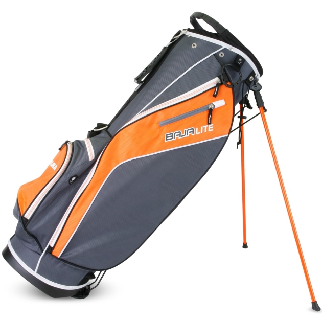 Sahara Baja Lite Golf Stand Bag Gray/Orange/White