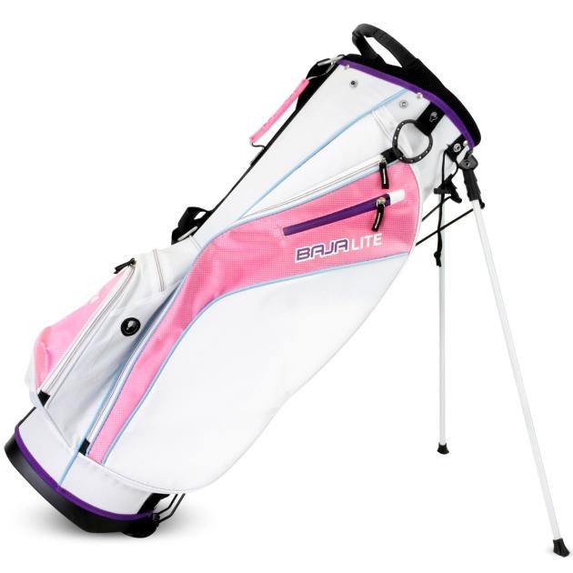 Sahara Baja Lite Golf Stand Bag Ladies White/Pink/Purple
