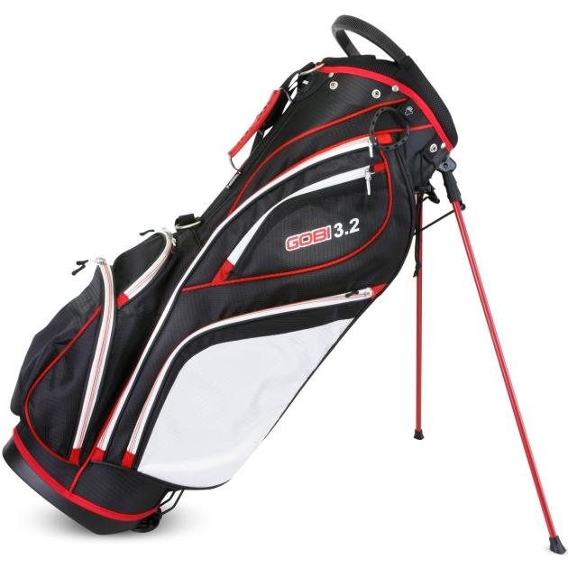 Sahara Gobi Golf Stand Bag Black/White/Red
