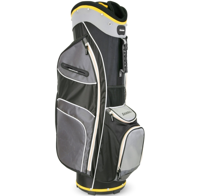 Sahara Baja Lite Golf Cart Bag Black/Gray/Yellow