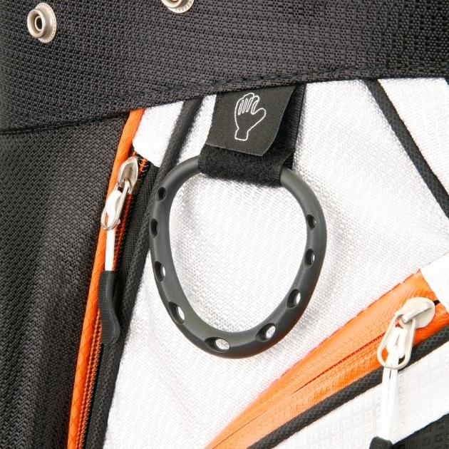Sahara Gobi Golf Cart Bag Gray/White/Orange