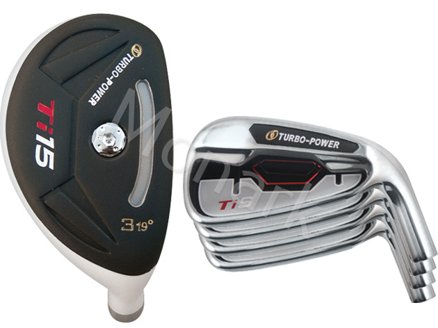 Custom-Built Turbo Power TiS Hybrid / Iron Combo Set (8 Clubs)