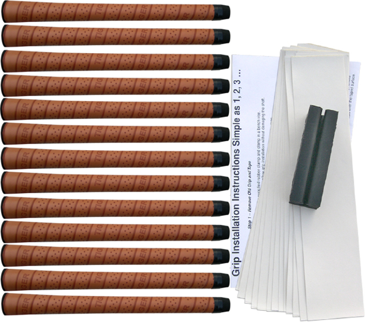 Tiger Synthetic Wrap Standard Tan - 13 pc Grip Kit
