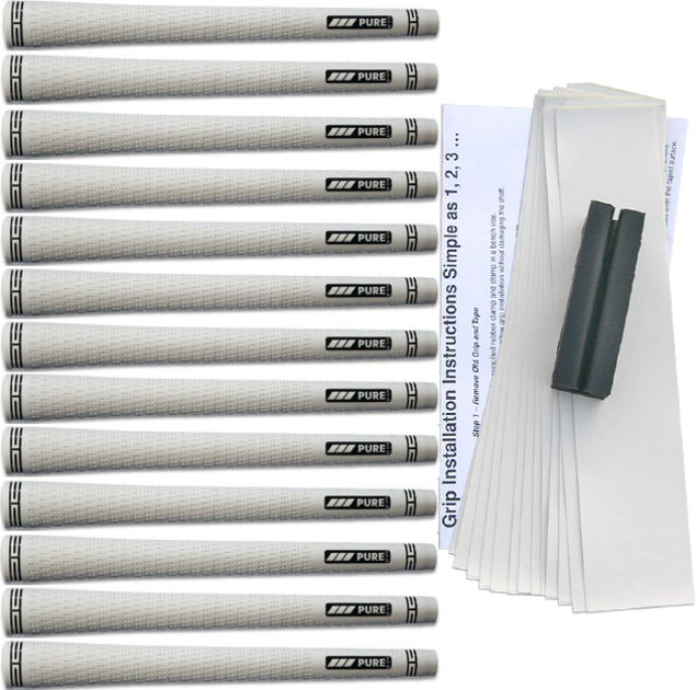 Pure Grips Pro Standard White - 13 pc Grip Kit