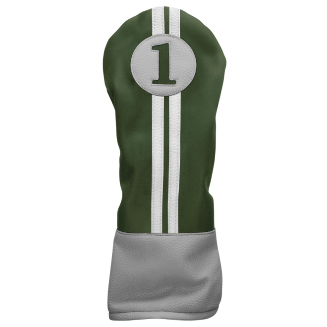 Sahara Retro Golf Headcover Green/Yellow/White - Driver
