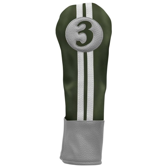 Sahara Retro Golf Headcover Green/Yellow/White - Fairway Wood