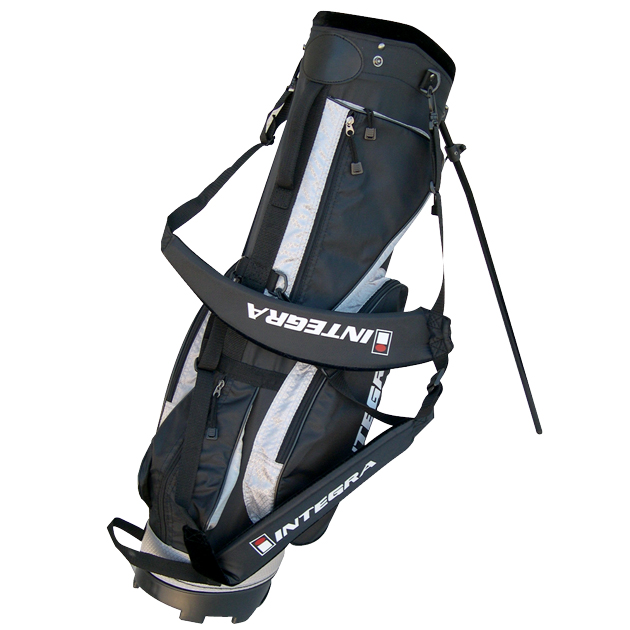 Integra Golf Stand Bag Black/Silver