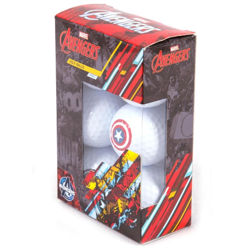 Avengers Golf Balls - Mixed Sleeve 6 Balls