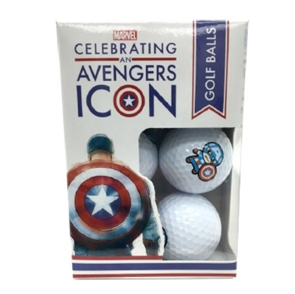 Captain America 75 Golf Balls - 6 Balls
