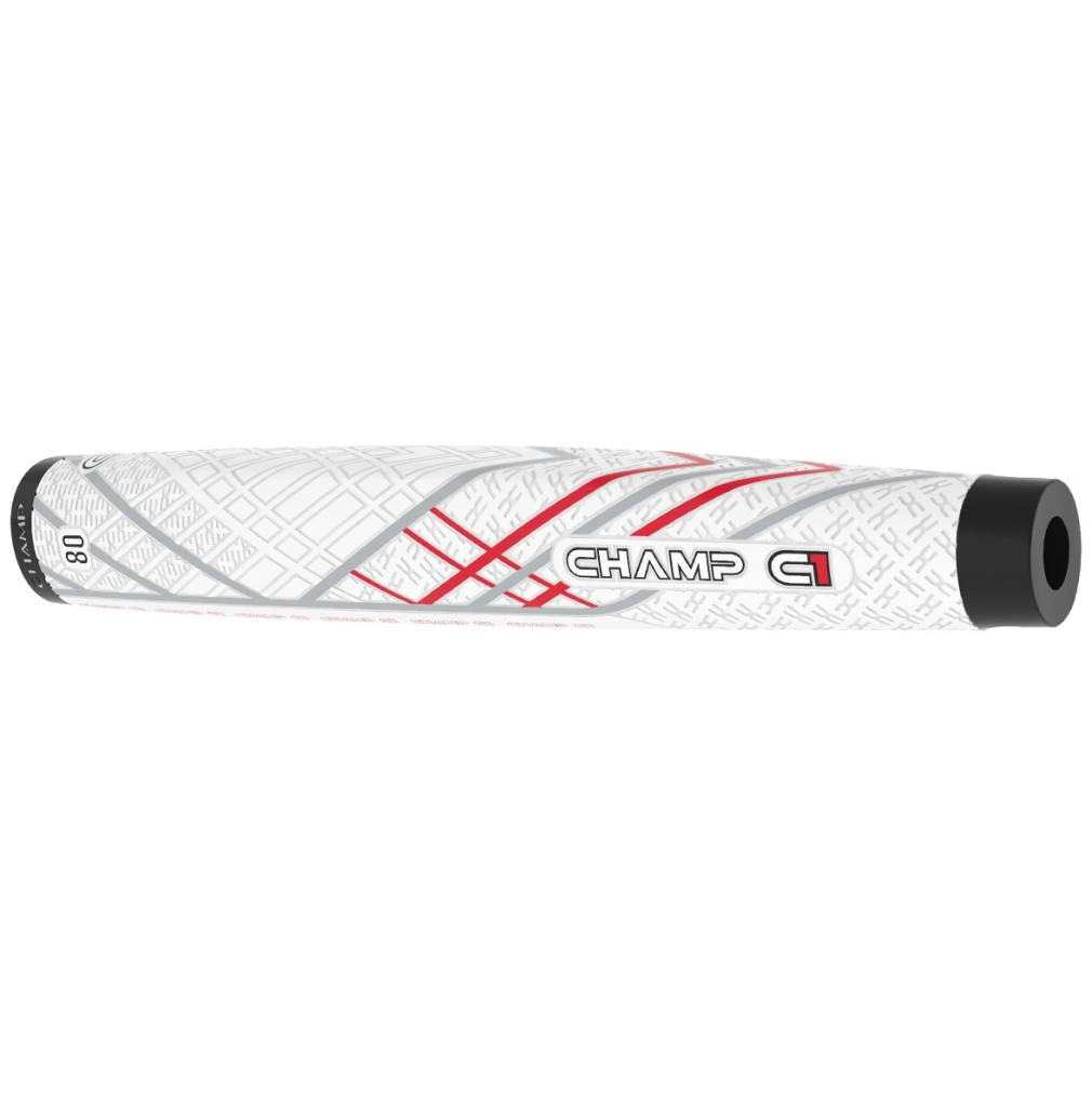 Champ C1 Putter Golf Grip - Midsize White/Grey/Red