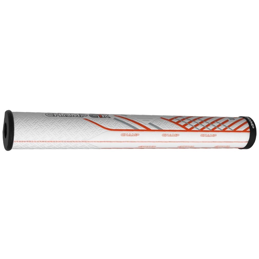 Champ C1X Putter Golf Grip - Midsize White/Orange/Black