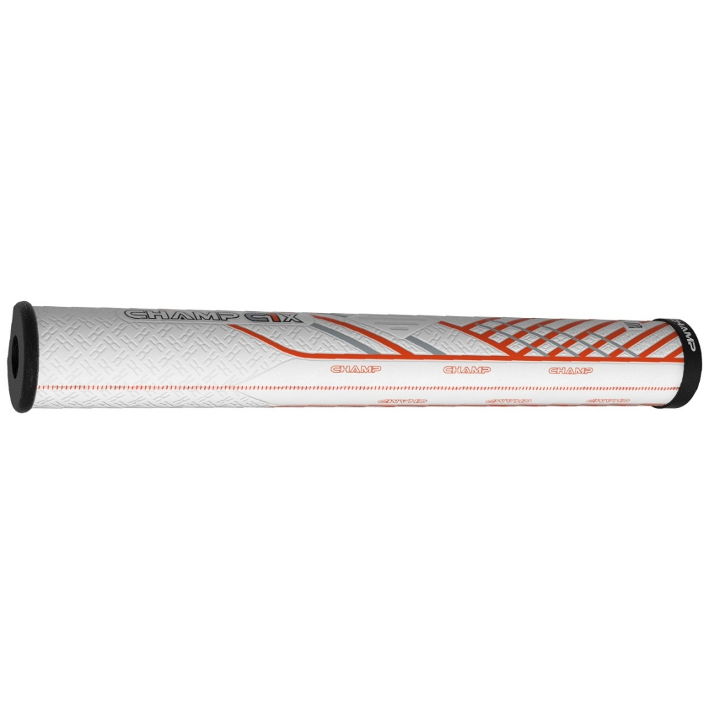 Champ C1X Putter Golf Grip - Jumbo White/Orange/Black