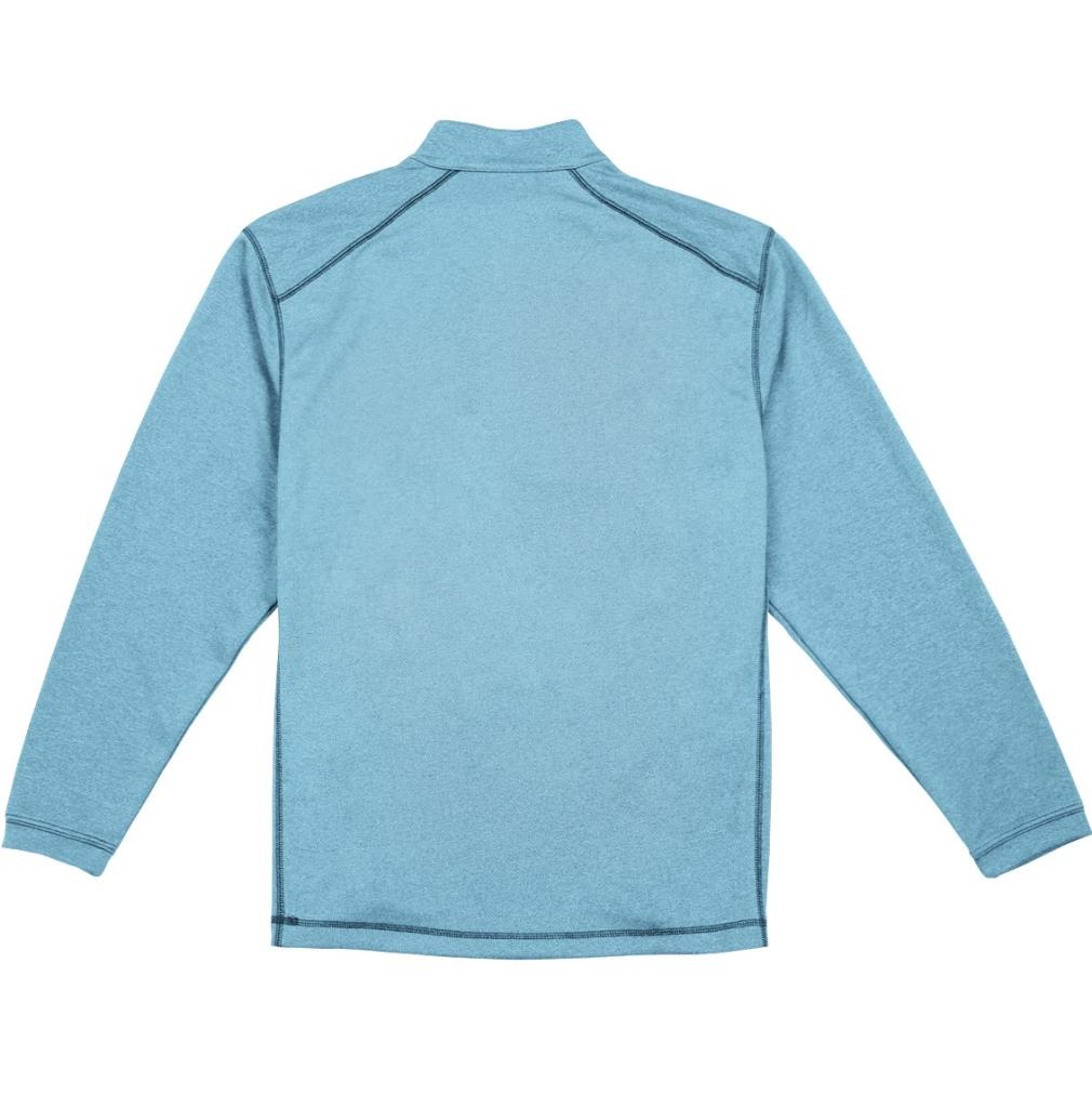 Pebble Beach Men's Performance Tech Golf Pullover 1/4 Zip Long Sleeve Shirt Blue