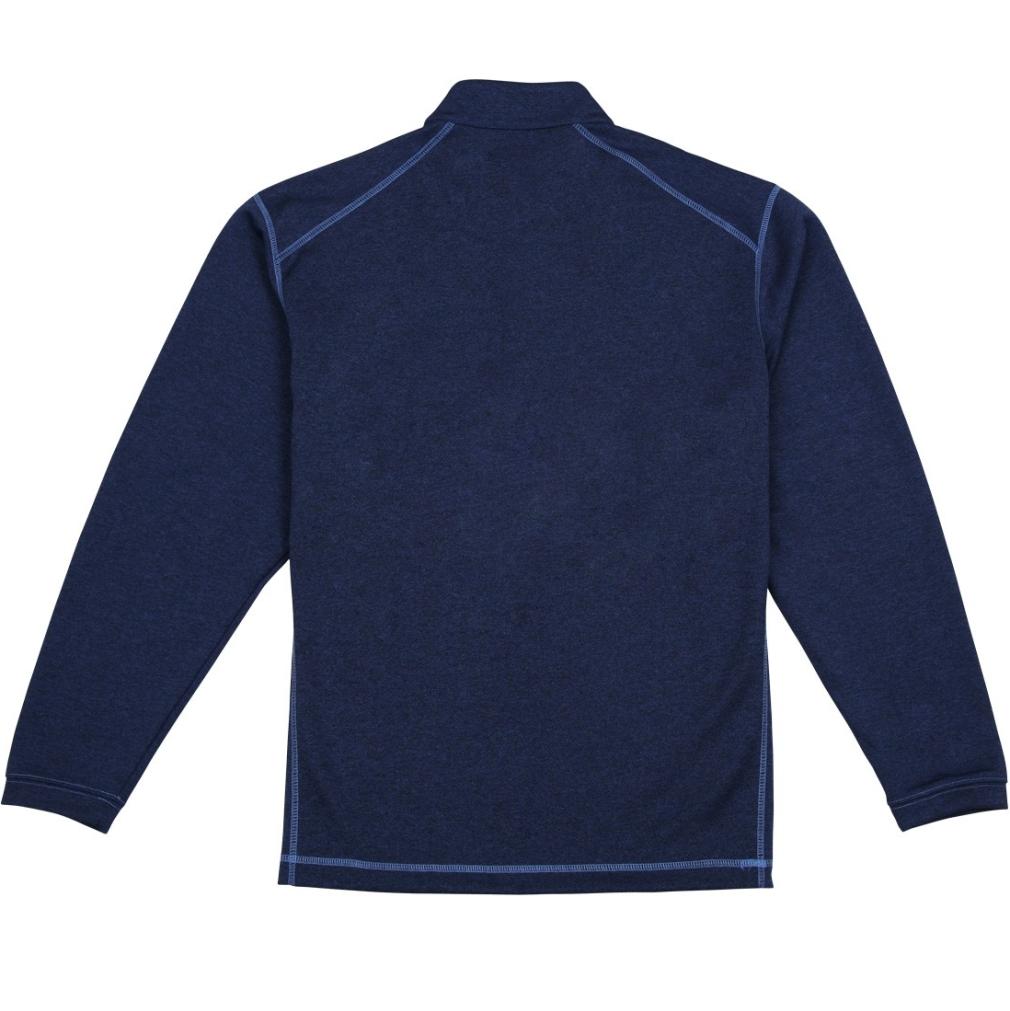 Pebble Beach Men's Performance Tech Golf Pullover 1/4 Zip Long Sleeve Shirt Navy