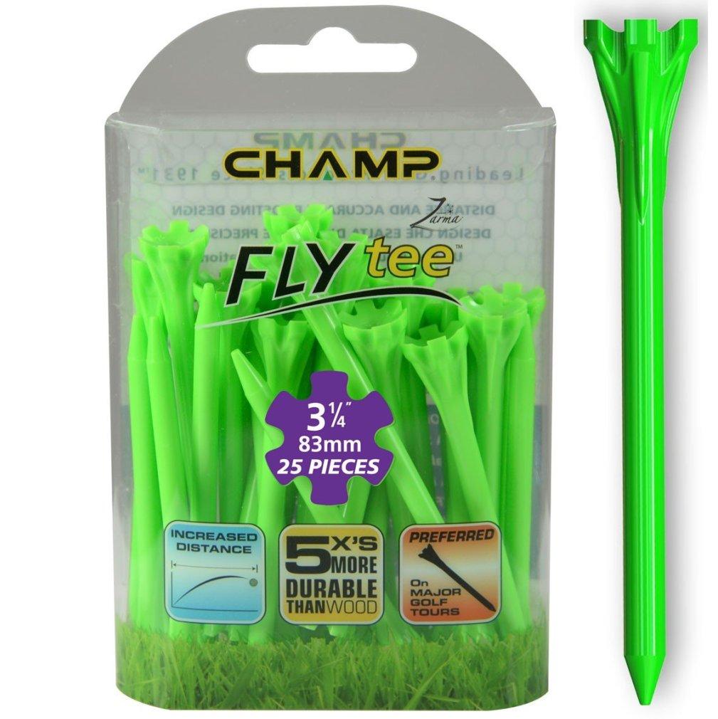 "Champ Zarma FLYTee - 3.25"" Lime Green Golf Tees 25 pack"