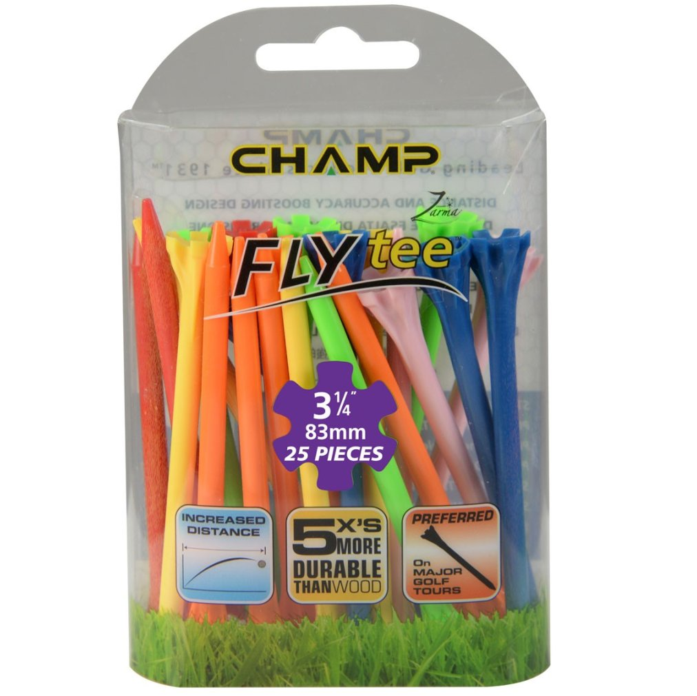 "Champ Zarma FLYTee - 3.25"" Mixed Golf Tees 25 pack"