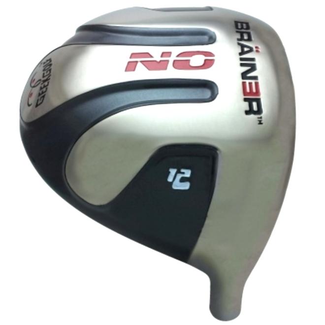 Geek Golf No Brainer Titanium Driver Head Grey
