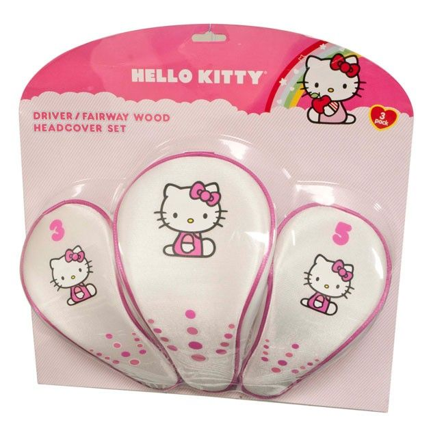 """Hello Kitty Golf """"The Collection"""" Headcover Combo Set"""