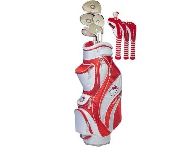 Hello Kitty Golf Ladies Complete Set - Red/White
