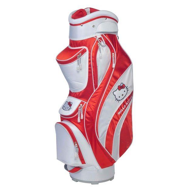 "Hello Kitty Golf ""Mix & Match"" Cart Bag Red/White"