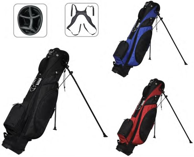 "RJ Sports Typhoon 6"" Stand Bag - Black"