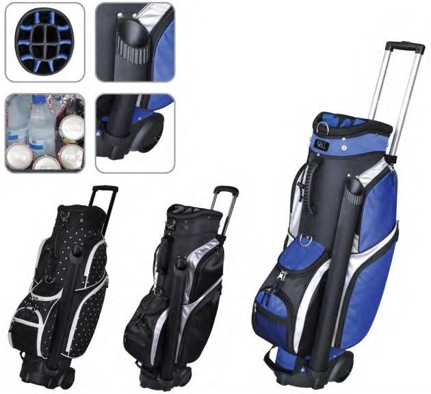 "RJ Sports Wheeled 9.5"" Transport Bag - Black/Silver"