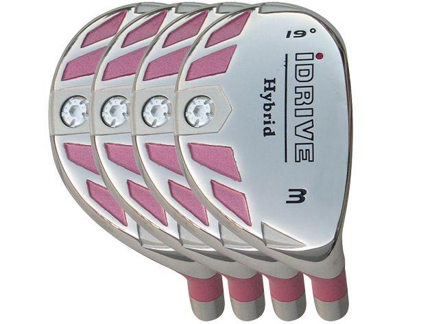 Built iDrive Pink Hybrid 4-Club Graphite Set