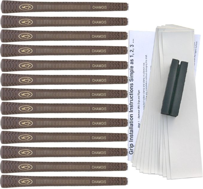 Avon Chamois Standard Brown - 13 pc Grip Kit