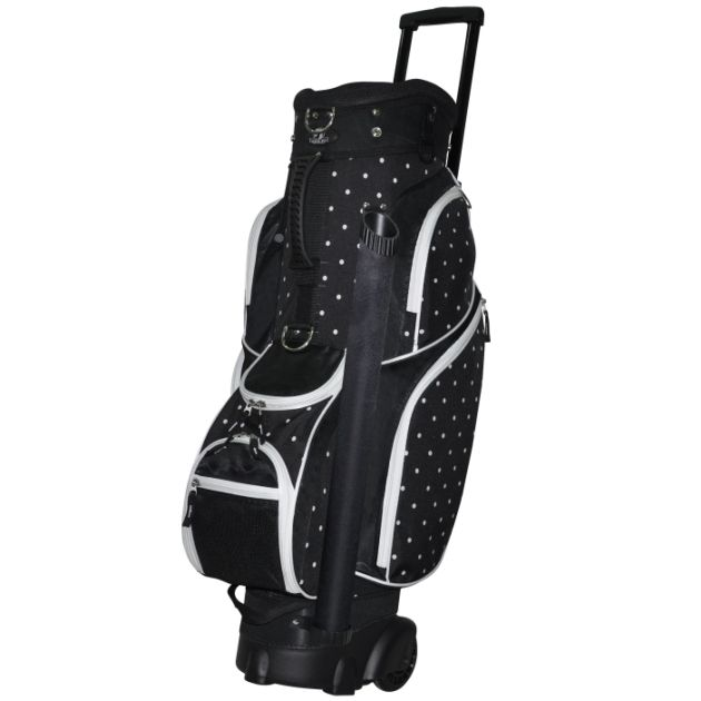 "RJ Sports Wheeled 9.5"" Transport Bag - Polk A Dot"