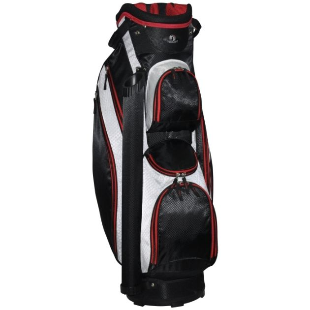 "RJ Sports Venice 9"" Cart Bag - Black/White"