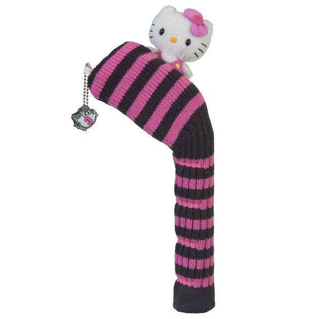 "Hello Kitty Golf ""Mix & Match"" Hybrid Headcover Black/Pink"