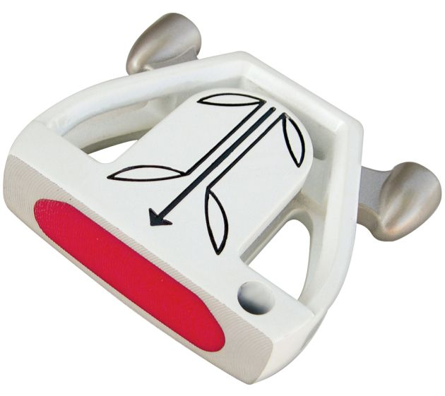 Custom-Built T7 Twin Engine White Mallet Putter