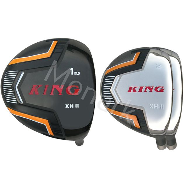 Built King XH-2 Titanium Driver + 2 x Fairway Woods
