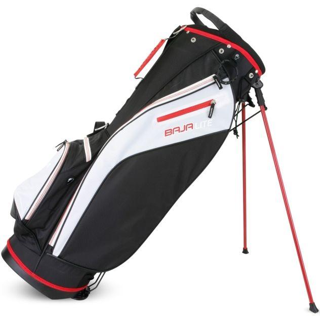 Sahara Baja Lite Golf Stand Bag Black/White/Red