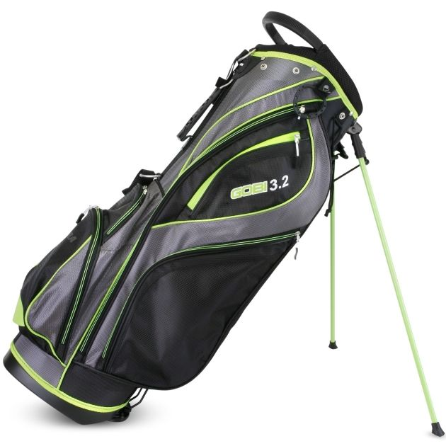 Sahara Gobi Golf Stand Bag Gray/Black/Lime