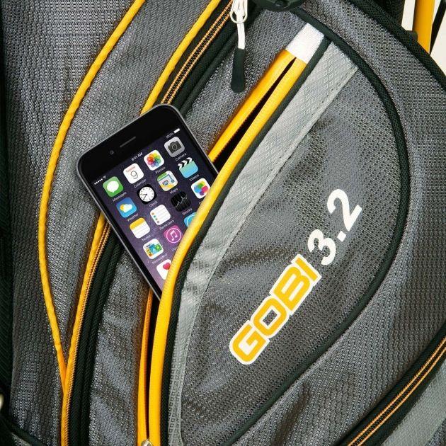Sahara Gobi Golf Stand Bag White/Gray/Orange