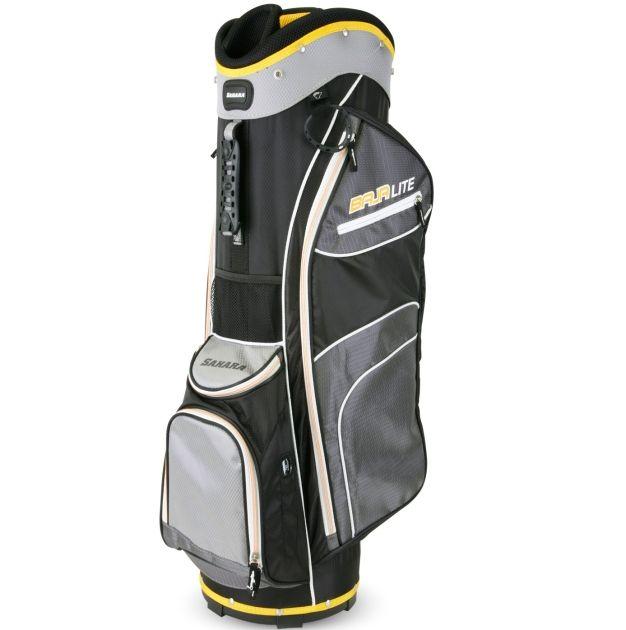 Sahara Baja Lite Golf Cart Bag Black/Gray/Yellow