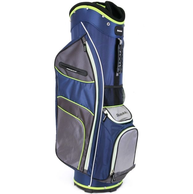 Sahara Baja Lite Golf Cart Bag Navy/Gray/Lime