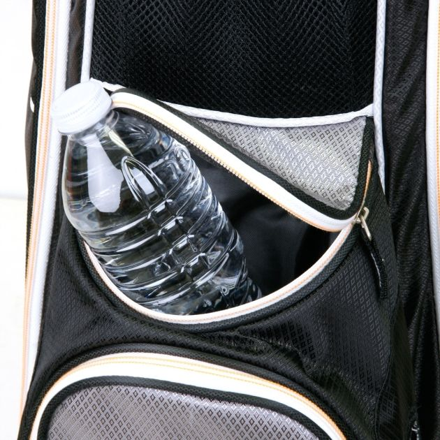Sahara Baja Lite Golf Cart Bag White/Gray/Red