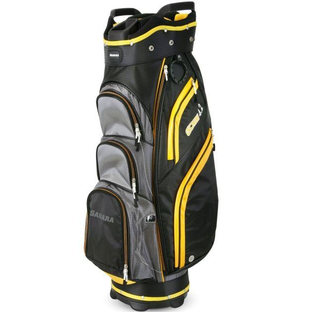 Sahara Gobi Golf Cart Bag Gray/Black/Yellow
