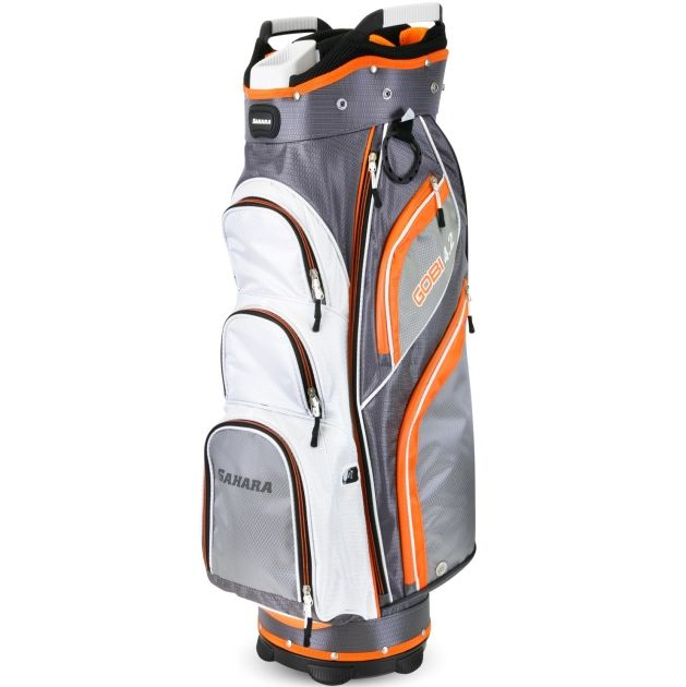 Sahara Gobi Golf Cart Bag Gray/White/Orange