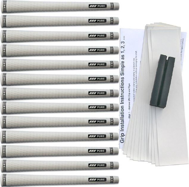 Pure Grips Pro Midsize White - 13 pc Grip Kit