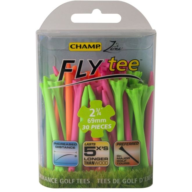 "Champ Zarma FLYTee - 2.75"" Mixed Neon Golf Tees 30 pack"