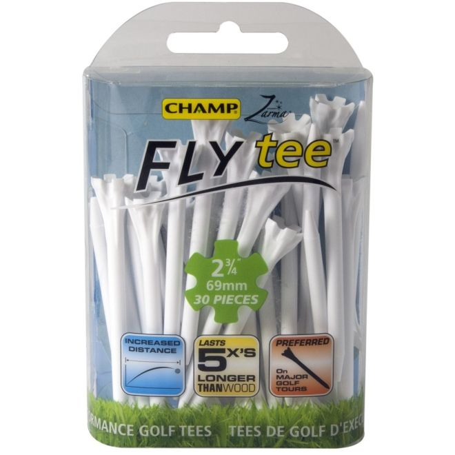 "Champ Zarma FLYTee - 2.75"" White Golf Tees 30 pack"