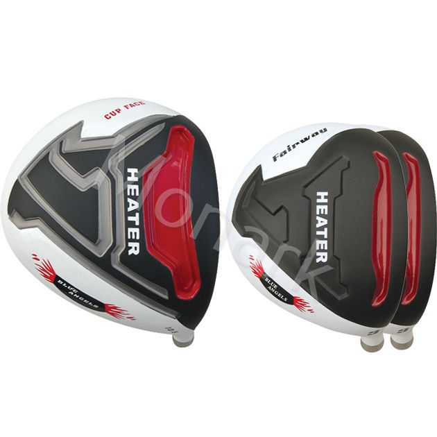 Built Heater Blue Angels Titanium Driver + 2 x Fairway Woods